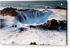 Acrylic Print featuring the photograph Thor's Well V3 101818 by Rospotte Photography