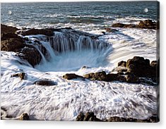 Acrylic Print featuring the photograph Thor's Well Yachats Oregon 102518 by Rospotte Photography