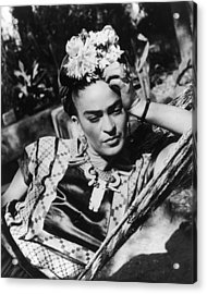 Thoughtful Frida Acrylic Print by Hulton Archive