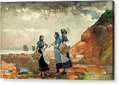 Three Fisher Girls, Tynemouth - Digital Remastered Edition Acrylic Print