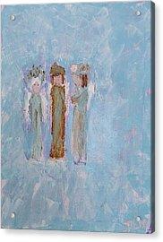 Three Friendly Angels Acrylic Print