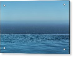 Three Layers Of Blue Acrylic Print