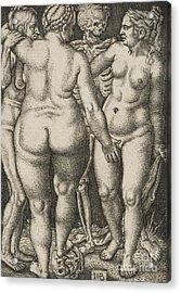 Three Women And Dead Acrylic Print