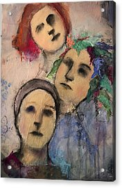 Threes Acrylic Print