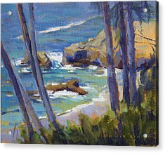 Acrylic Print featuring the painting Through The Trees by Konnie Kim