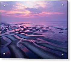 Tidal Flats Sunset Acrylic Print