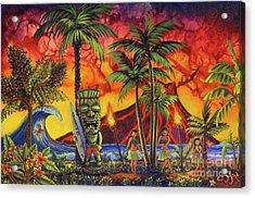 Tiki Surf A Lot Acrylic Print