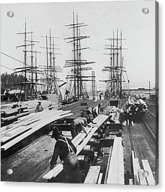 Timber In Tacoma, Washington Acrylic Print by Archive Photos
