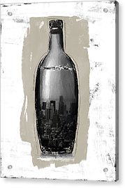 Time In A Bottle 2- Art By Linda Woods Acrylic Print