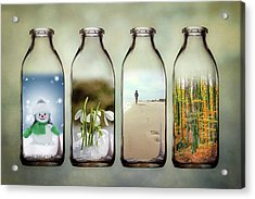 Time In A Bottle - The Four Seasons Acrylic Print