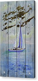 Acrylic Print featuring the painting Time To Sail by Mary Scott