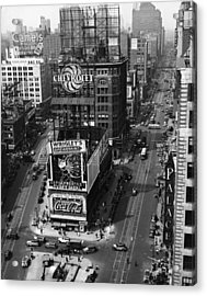 Times Square, Early 1930s Acrylic Print by Frederic Lewis
