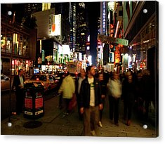 Time Square, Two Acrylic Print