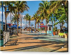 Times Square In Fort Myers Beach Florida Acrylic Print