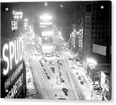 Times Square Is Covered In A White Acrylic Print