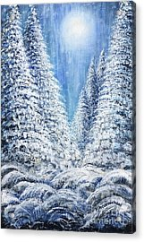 Tim's Winter Forest 2 Acrylic Print