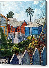 Tin Roofs And Clapboard Acrylic Print