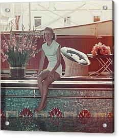 Tina Onassis Acrylic Print by Slim Aarons