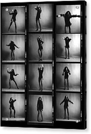 Tina Turner Contact Sheet Acrylic Print