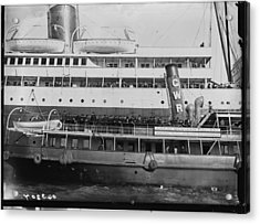Titanic Survivors Acrylic Print by Topical Press Agency