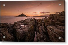To The Sunset - Marazion Cornwall Acrylic Print