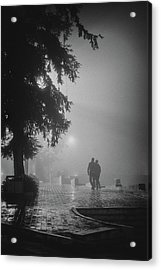 Together In Fog, Sa Pa, 2014 Acrylic Print by Hitendra SINKAR