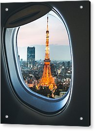 Tokyo Skyline With The Tokyo Tower Acrylic Print by Franckreporter