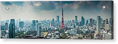Tokyo Tower Futuristic Skyscraper Acrylic Print by Fotovoyager