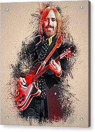 Tom Petty - 35 Acrylic Print