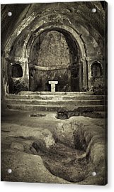 Tomb And Altar In The Monastery Of San Pedro De Rocas Acrylic Print