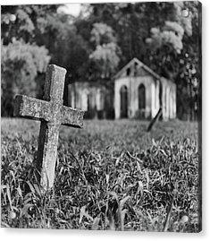 Tombstone, St. Chad's, Trinidad Acrylic Print