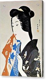 Top Quality Art - Geisha Hisae Acrylic Print