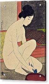 Top Quality Art - Woman After Bath #1 Acrylic Print