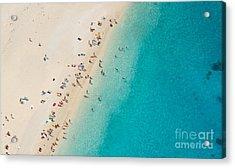 Top View Of Beautiful Dreamy Beach Acrylic Print