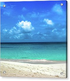 Topical Beach View Anguilla Acrylic Print