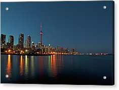 Toronto Skyline At Night Acrylic Print
