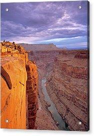 Toroweap Overlook Cliff Acrylic Print by Leland D Howard