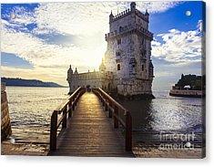 Torre De Belem - Famous Landmark Of Acrylic Print