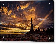 Totem Pole Dawn Acrylic Print