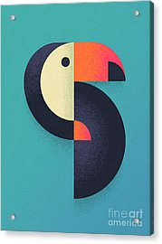 Toucan Geometric - Single Acrylic Print