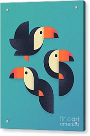 Toucan Geometric - Group Acrylic Print