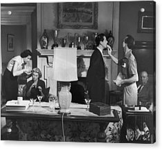 Touch Up Acrylic Print by Hulton Archive