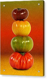 Tower Of Colorful Tomatoes Acrylic Print