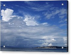 Towering Over Double Bluff Acrylic Print by Tom Trimbath