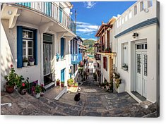 Town Of Skopelos Acrylic Print