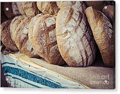 Traditional Bread In Polish Food Market Acrylic Print