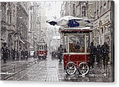 Traditional Fast Food Of Istanbul On Acrylic Print