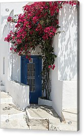 Acrylic Print featuring the photograph Traditional Greek Island House Entrance by Michalakis Ppalis