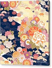 Traditional Kimono Motifs Acrylic Print