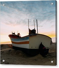 Traditional Wooden Fishing Boat Acrylic Print